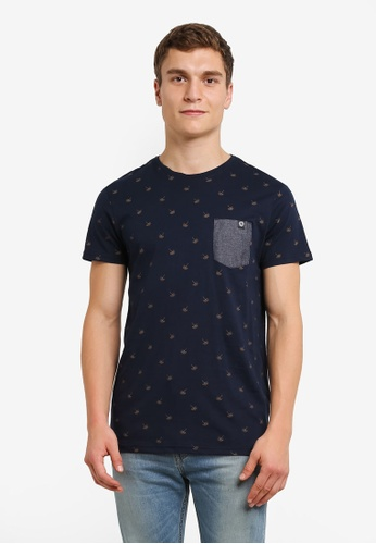 !Solid blue and navy Joby Polka Dotted Pocket T-Shirt SO701AA0RU6UMY_1