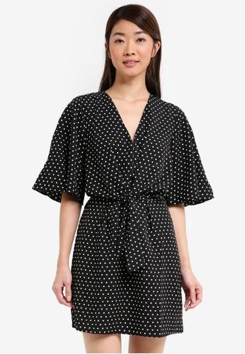 Miss Selfridge multi Spot Tie Mini Dress 18B54AAC780C70GS_1