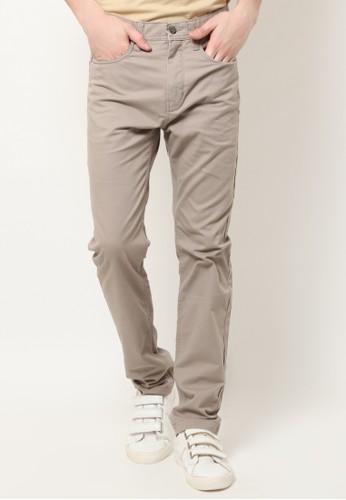 MGEE brown Mgee Casual Pants F1C52AA12B572BGS_1