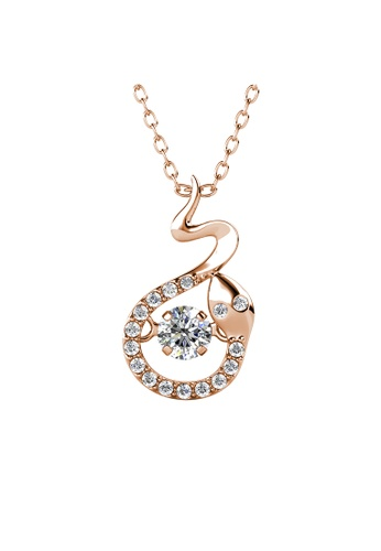 Her Jewellery gold 12 Dancing Zodiac Pendant (Snake) RG- Made with premium grade crystals from Austria 6AD21ACA472D03GS_1