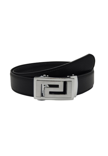 Oxhide black Automatic Buckle Belt - Real Leather Ratchet Belt For Business / Evening Wear - ABB3A Oxhide C0DCCAC47792EBGS_1