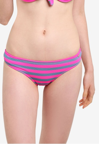 Superdry pink Cali Stripe Bikini Bottom SU137US24LTZMY_1