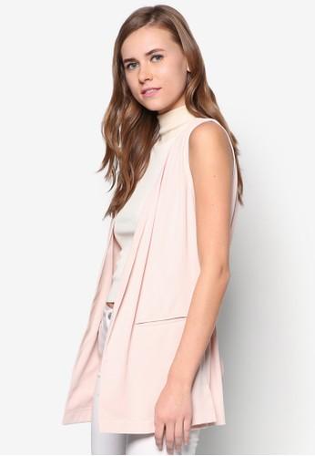 Belted Sleeveless Jacket, 服飾, 夾克 & topshop hk大衣