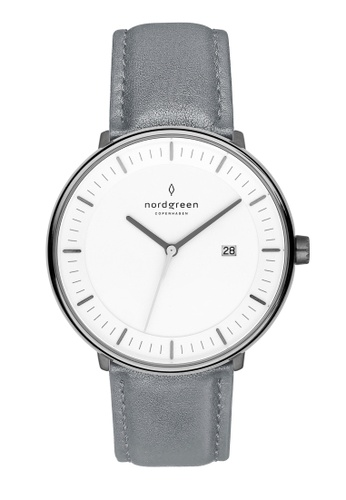 Nordgreen grey Nordgreen Philosopher Gun Metal 36 mm - Grey Leather Watch 37741AC31B2A14GS_1