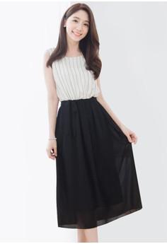 Breezy Light Stripes Dress