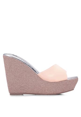 Spiffy pink Elegant Glitter Wedges SP352SH0S6E4MY_1