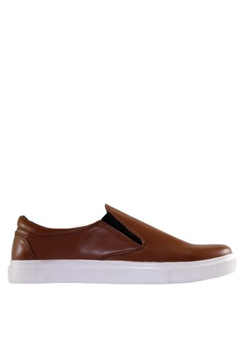 Kenz brown Kenz Retro - Brown KE298SH0UCRKID_1