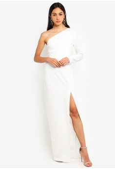 62cf0dfe2cf Vesper white Remy Maxi Dress With One Sleeve DB83EAA37FC795GS 1