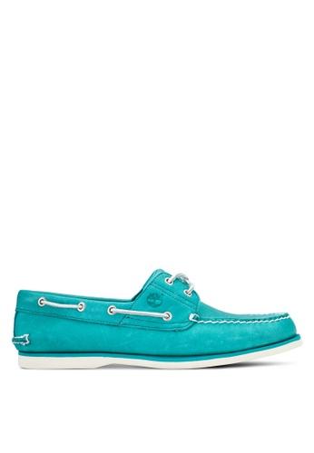 Timberland blue Classic 2-Eye Boat Shoes TI063SH99LNGMY_1