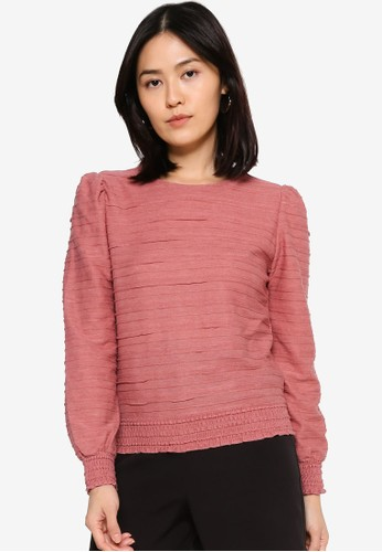 ONLY pink Kelly Long Sleeve Top 8BCE8AAF414B7EGS_1