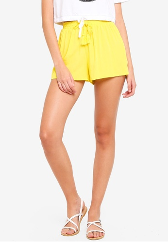 Supre yellow Melrose Tie Front Shorts 0B6CDAAFCF4DE2GS_1