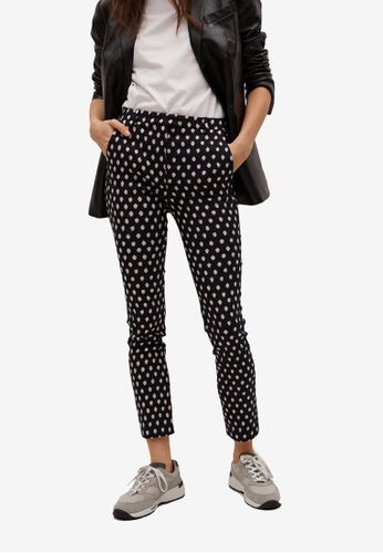 Mango black Crop Skinny Trousers 31A86AA2929132GS_1