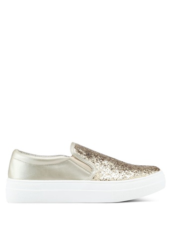 Carlton London gold Metallic Slip Ons 39632SHE1D4A2AGS_1