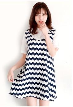 Black White 2-in-1 Dress