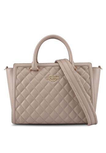 Love Moschino beige LOVE MOSCHINO Top Handle Bag LO478AC0SXW5MY_1