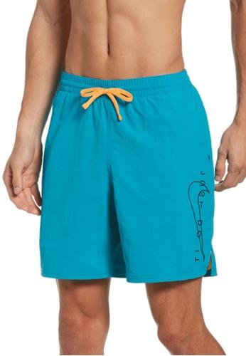 "Nike blue Nike Swim Men's JDI Swoosh Icon 7"" Volley Short 5970FUS5777D46GS_1"