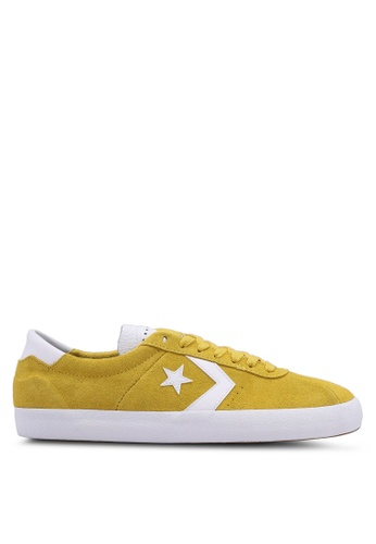 Converse yellow Breakpoint Pro Suede Ox Sneakers 2EF2FSH02D4C7FGS_1