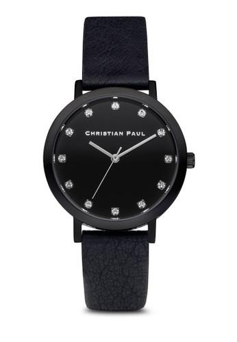 The Sesprit outlet尖沙咀trand 35mm 奢華風格紋手錶, 錶類, 皮革錶帶