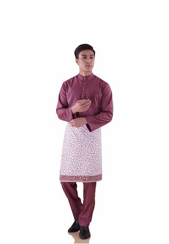 I Am Famous 紫色 Uzayr Baju Melayu with Sampin 7F22BAA25F62BBGS_1