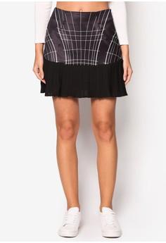 【ZALORA】 Love Skater Skirt With Pleats