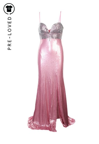 Jovani pink Pre-Loved jovani Pink and Silver Sequins Maxi Dress 9CCF7AA1E10CA3GS_1