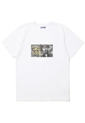 BLOCKAIT white Akita Ken photo tee 301F2AAC042FC2GS_1