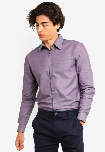 Burton Menswear London 紅色 牛津襯衫 8DAB0AA9DE8CF5GS_1