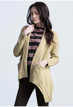 Twist Knit Warm Cardigan