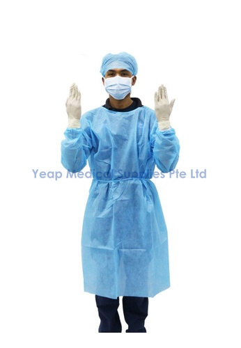 ASSURE Assure PPE Isolation Gown with Knitted Cuff (Blue) 66314ES9F377C7GS_1