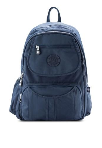 BAGSTATIONZ MDS esprit 台中尼龍布料波紋後背包, 包, 後背包
