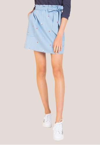 L'zzie blue PRINCESS SNOW WHITE STRIPE SKIRT - BLUE C9D55AA754AB1EGS_1