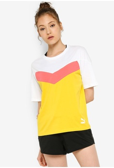 1c8008b10275 PUMA yellow and multi Sportstyle Prime PUMA XTG Colorblock Tee  3795DAA2C32D93GS_1