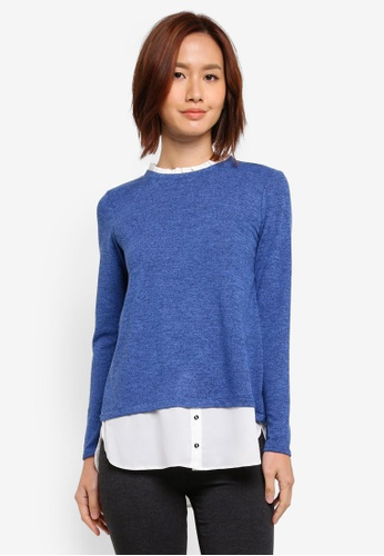 Dorothy Perkins blue Blue 2N1 Top 47FE6AA16D39C1GS_1
