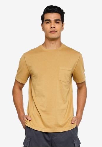 Banana Republic brown Authentic Gmt Dye Pocket Crew Tee 90977AA41EF0E5GS_1