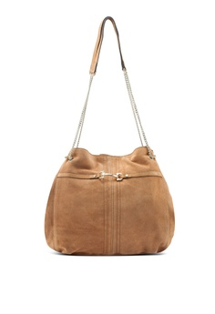 fb8525fd03 River Island brown 3390 Leather Snaffle Slouch Bag B29A5ACB831B5AGS_1