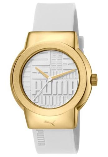 Puma white PU103842003 Uptown White Gold PU Strap Ladies Watch PU549AC0S7I3MY_1