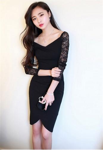 c2de43e686d0 Buy Crystal Korea Fashion V-neck Lace Strapless Dress | ZALORA HK