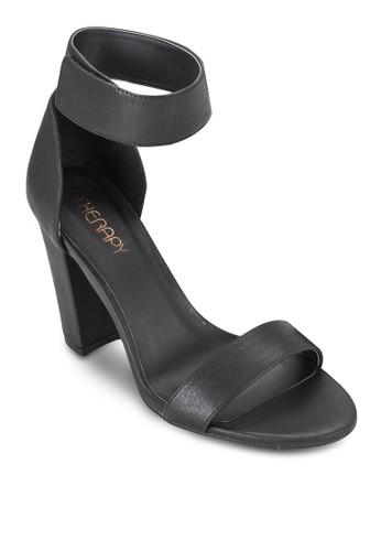 esprit分店Portland 魔術顫繞踝粗跟鞋, 女鞋, 鞋