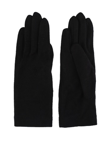 GLOBAL WORK black Classic Knit Gloves EED5FACA2E0921GS_1
