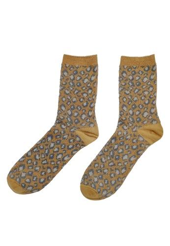 6IXTY8IGHT brown Christine, Two-Tone Cotton Regular Socks AC03143 1A827AA62B8708GS_1