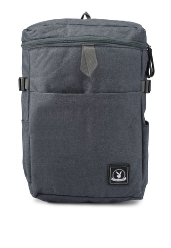 Playboy grey Playboy Casual Backpack PL371AC0SJZSMY_1