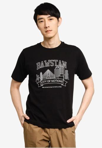 GLOBAL WORK black Graphic T-Shirt D25D7AAE35B412GS_1