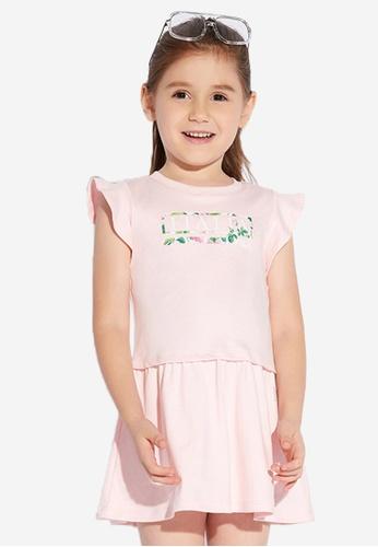 FILA pink FILA KIDS FILA ITALIA Logo Cotton Dress 4-9yrs B0B0BKAC2B9567GS_1