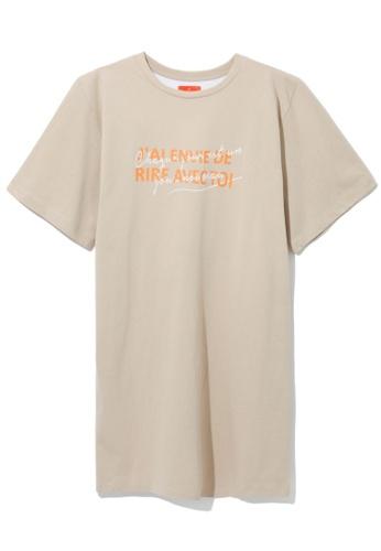 tout à coup beige Cutout back tunic dress 0015EAAF6A9AB0GS_1