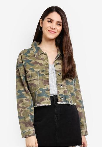 c584f9e795968 Cotton On green Cropped Fashion Batwing Denim Jacket 5CE14AA0462EB4GS_1