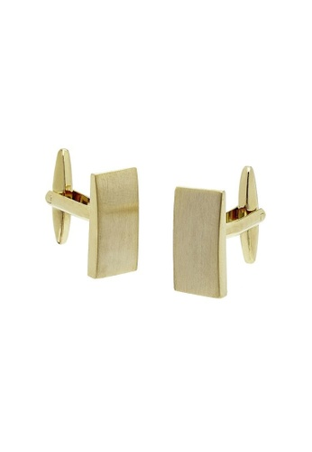 Buckle gold Rectangle Brushed Gold Cufflinks 0ED8BACFA0BB55GS_1