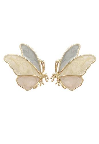 Fleur Jewelry pink Pastel Papillon Earrings 664EEAC8E5DE62GS_1