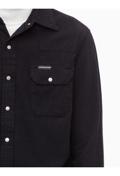 a826c475ab 60% OFF Calvin Klein Calvin Klein Western Long Sleeve Shirt HK  1