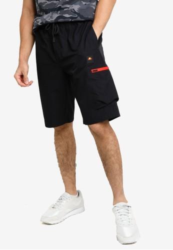 ellesse black Lavaredo Cargo Shorts 859E5AA5E68D1CGS_1