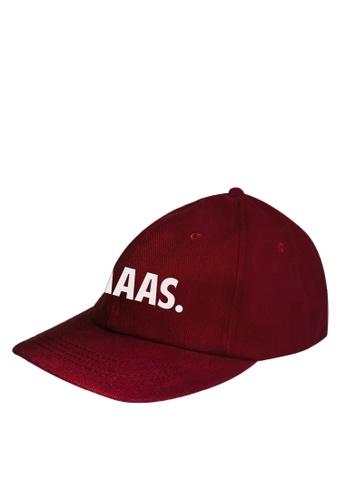 HYPE MNL red Yaaas Maroon Baseball Cap F2329AC45C2615GS_1